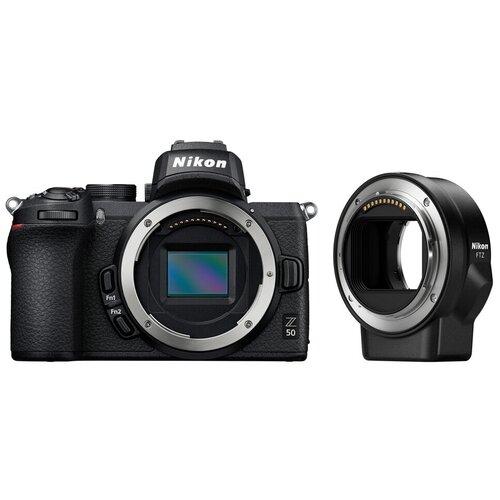 Фотоаппарат Nikon Z50 Body черный переходник FTZ