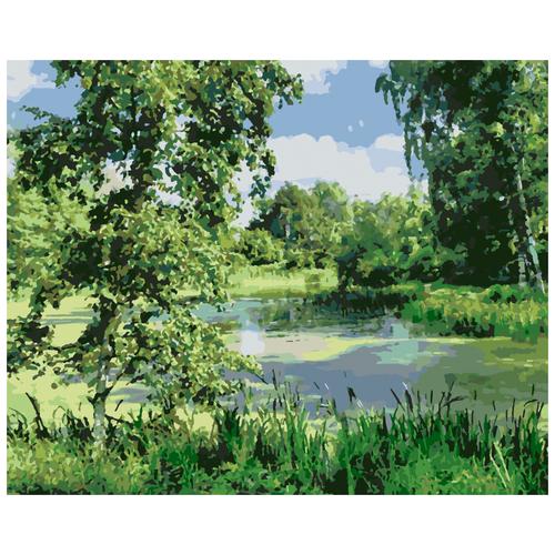 Лесное болото живопись на холсте 40х50 ( U8102 )