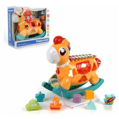 Купить Металлофон Veld co 104401 со световыми эффектами Лошадка , Развивающие игрушки