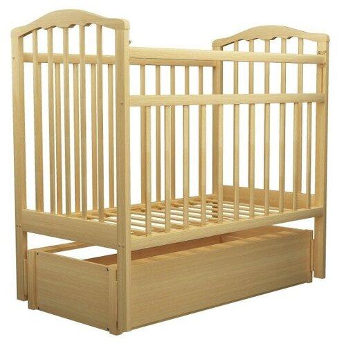 детские кроватки агат золушка 6 маятник продольный с ящиком Кроватка Агат Золушка-6 (классическая), продольный маятник светлый