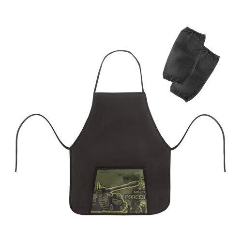 Фартук с нарукавниками ПИФАГОР, 44x55 см, 1 карман, дизайн на кармане, Armed Forces, 270195
