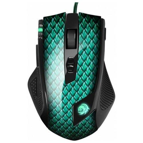 Sharkoon Drakonia Игровая мышь (11 кнопок 5000 dpi USB зелёная подсветка)