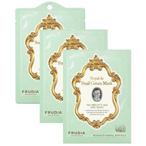 Купить Frudia Омолаживающая маска для лица с экстрактом улитки Royal de snail green mask, 20 мл, 3 шт.