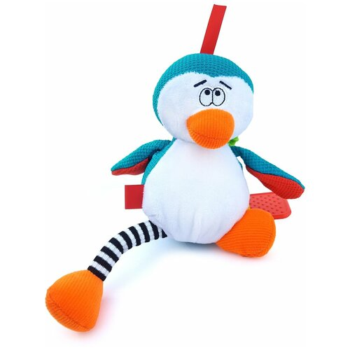 Развивающая игрушка Dolce Пингвин, голубой/белый развивающая игрушка dolce попугайчик бело красно голубой
