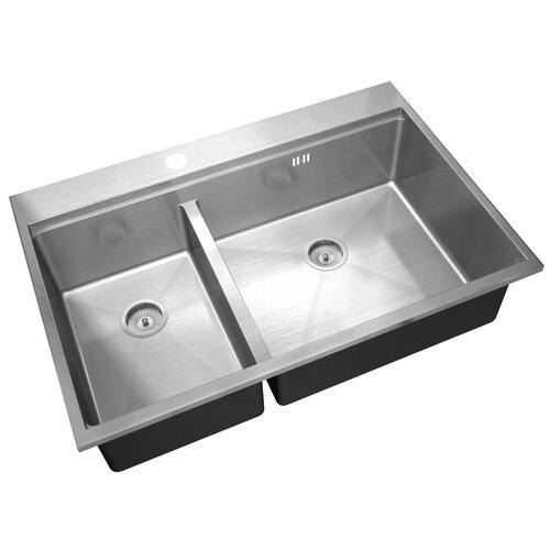 Врезная кухонная мойка 78 см, ZorG Sanitary R-5278-R ZORG MASTER FINESS, хром