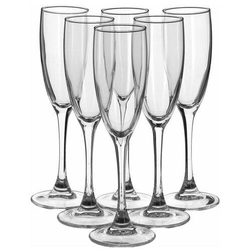 Фото - Luminarc Набор фужеров для шампанского Signature 6 шт 170 мл H8161 luminarc набор фужеров для шампанского signature 3 шт 170 мл j9756