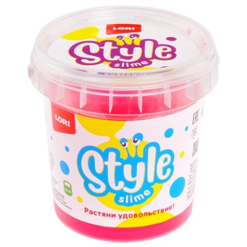 Лизун LORI Style slime классический с ароматом вишни розовый