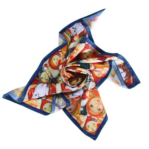 Платок женский шелковый с авторским арт-принтом