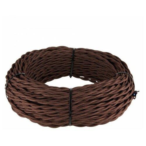 Ретро кабель витой 3х1,5 (коричневый) 2 м WERKEL W6453214 Ретро Кабель Коричневый