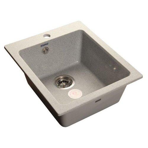 Врезная кухонная мойка 42.7 см GranFest Practic GF-P505 серый кухонная мойка серый granfest practic gf p505