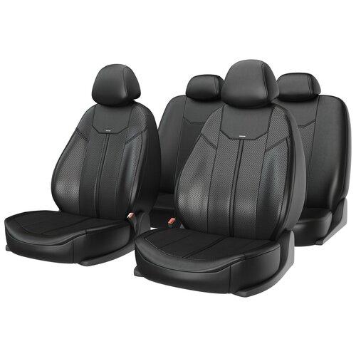 Универсальные чехлы на автомобильные сиденья CarFashion MUSTANG черный/черный/черный