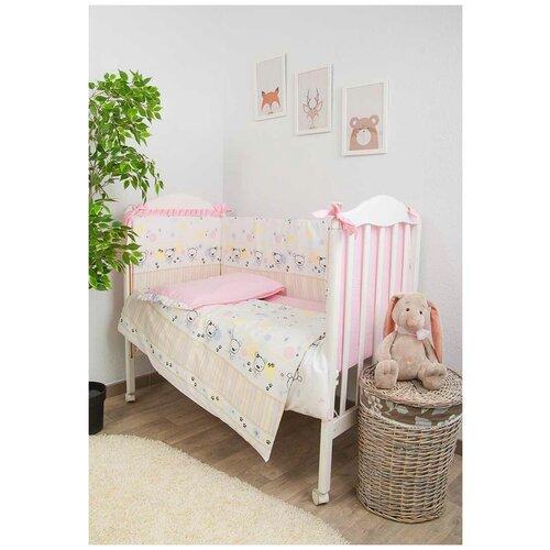 Фото - Сонный Гномик комплект Конфетти (6 предметов) нежно-розовый комплекты в кроватку сонный гномик конфетти 6 предметов