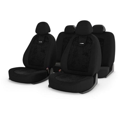 Универсальные чехлы на автомобильные сиденья CarFashion COLOMBO черный/черный/черный