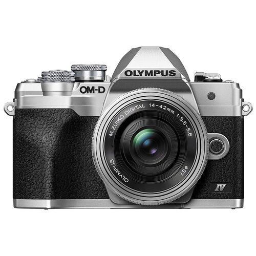 Фото - Фотоаппарат Olympus OM-D E-M10 Mark IV Kit серебристый M.Zuiko Digital ED 14-42mm f/3.5-5.6 EZ фотоаппарат olympus om d e m5 mark iii kit серебристый m zuiko digital 12 40mm f 2 8