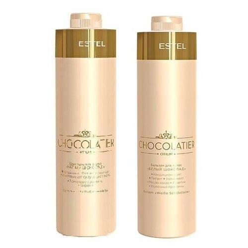 Фото - Комплект Estel Professional Белый шоколад OTIUM CHOCOLATIER (шампунь 1000 мл + бальзам 1000 мл) estel professional бальзам otium chocolatier белый шоколад 200 мл