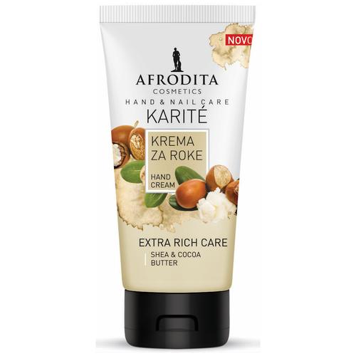 Крем для рук и ногтей экстраухаживающий для сухой кожи KARITE, Afrodita Cosmetics, Словения, 75мл