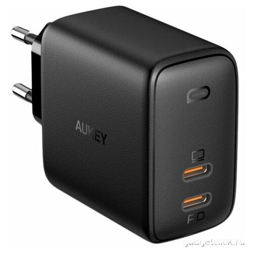 Фото - Сетевое зарядное устройство Aukey Omnia Duo PD 65W 2xUSB-C PA-B4 (Black) сетевое зарядное устройство aukey travel charger pa u32 12w 2xusb a черное