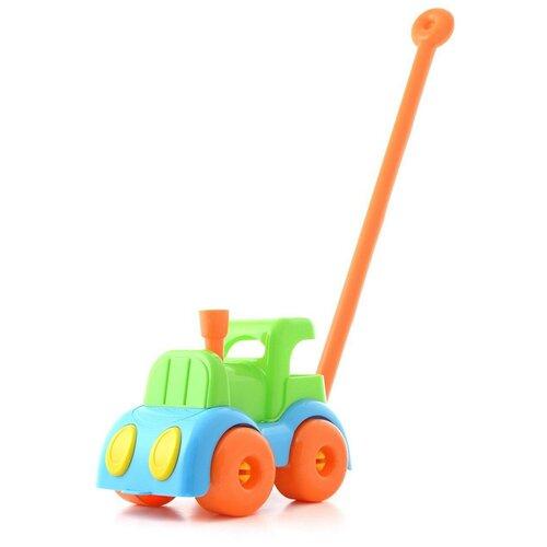 Каталка-игрушка Knopa Паровозик (87020) зеленый/голубой