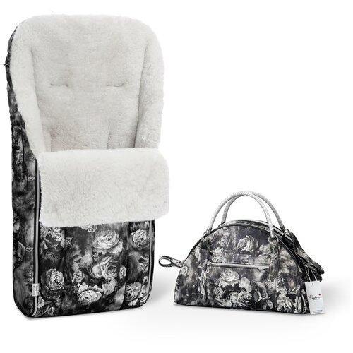 Комплект Esspero (конверт Icelandic Sheep Flowers и сумка на коляску) flowers комплекты в коляску esspero комплект постельного белья в коляску conny 5 предметов