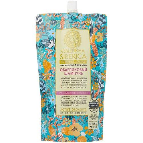Купить Natura Siberica шампунь Облепиховый Глубокое очищение и уход для нормальных и жирных волос, 500 мл