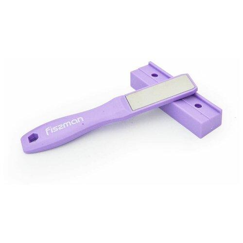 Точило Fissman двухстороннее для ножей двухшаговой заточки 19 см с подставкой для ножа (алмазный камень) (2972) недорого