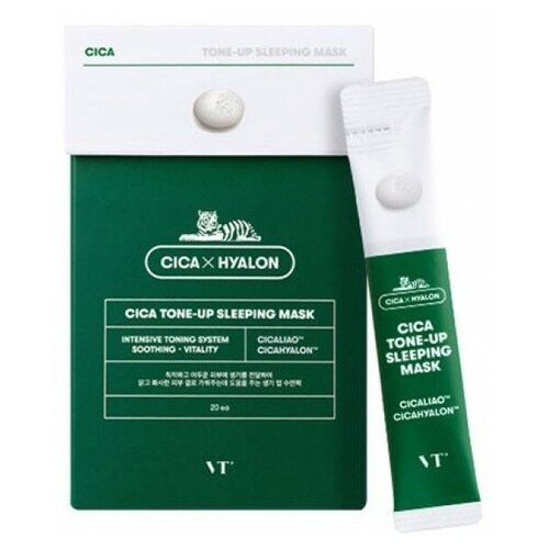 Купить Ночная маска для лица с эффектом сияния кожи VT Cosmetics Cica Tone-Up Sleeping Mask