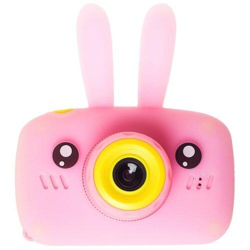 Фото - Фотоаппарат GSMIN Fun Camera Rabbit с играми розовый фотоаппарат children s fun camera микки с wi fi красный