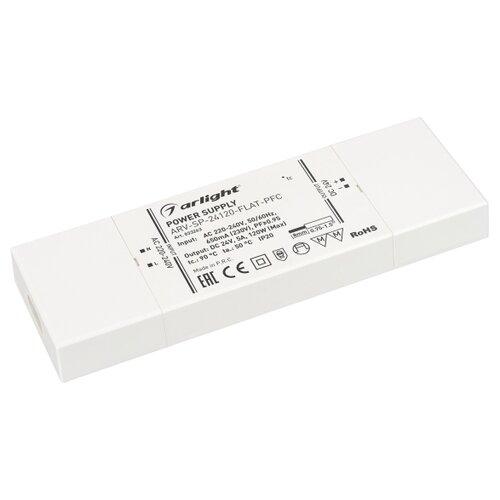 Фото - Блок питания ARV-SP-24120-FLAT-PFC (24V, 5A, 120W) (ARL, IP20 Пластик, 5 лет) блок питания ars 120 24 ls 24v 5a 120w