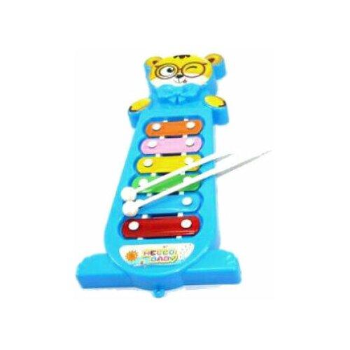 Shantou Gepai ксилофон 255-5 6 тонов красный/голубой/желтый недорого