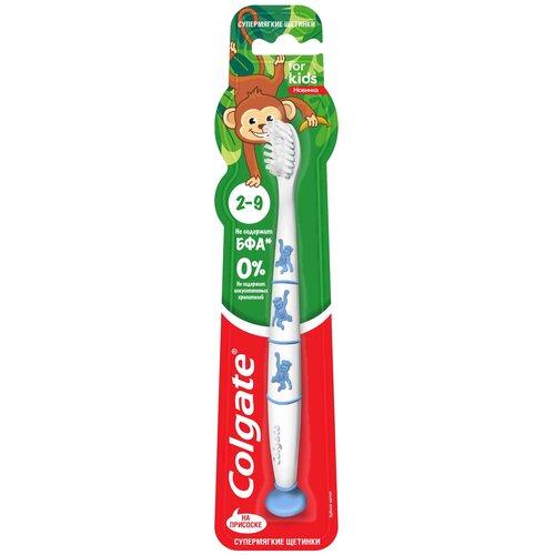 Купить Зубная щетка Colgate For kids 2-9 лет, белый/синий, Гигиена полости рта