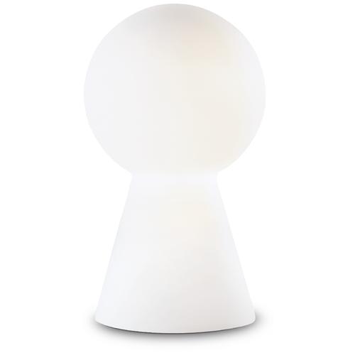 Настольная лампа Ideal Lux Birillo макс.60Вт Е27 IP20 230В Хром/Белый Стекло Н30 Выключатель 000268