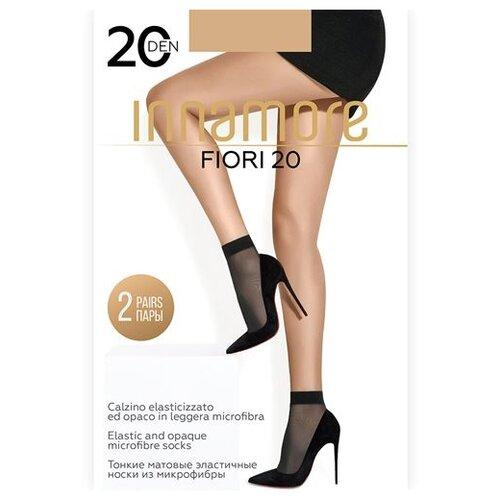 Капроновые носки Innamore Fiori 20, 2 пары, размер UNI, miele