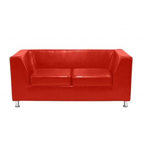 Диван, Мягкий офис, Офис Стрикт Стайл двухместный Экокожа Oslo, красный
