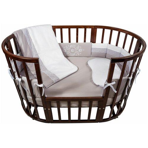 спальные конверты chepe нежность Комплект в кроватку Chepe for Nuovita Tenerezza / Нежность 6 предметов (бело-серый)