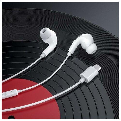 Наушники HOCO M83 Type-C Original series digital earphones с микрофоно м, белый наушники hoco es28 original series apple champagne gold