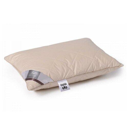 Подушка из овечьей шерсти в тике Бел-Поль овечья шерсть 70х70 средняя
