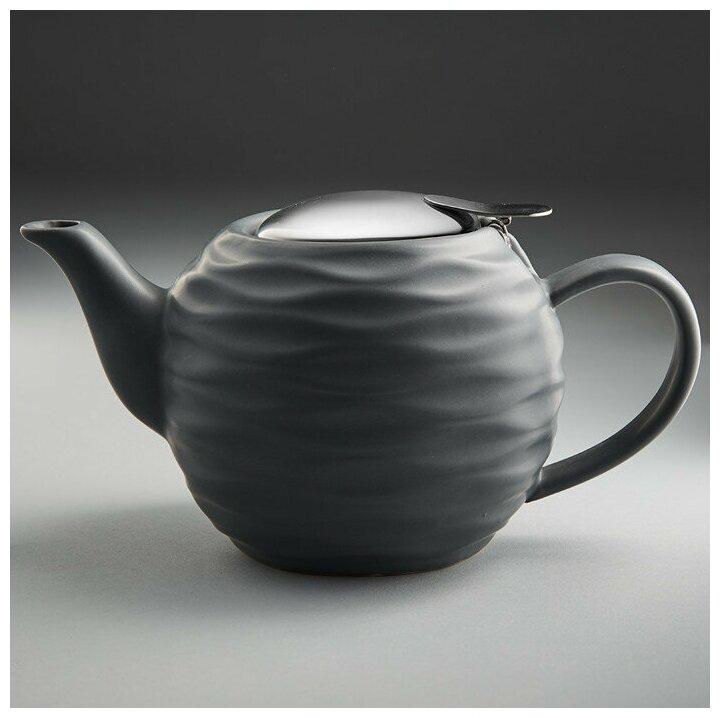 Чайник заварочный Ф19-003R, 800 мл (серый) — купить по выгодной цене на Яндекс.Маркете