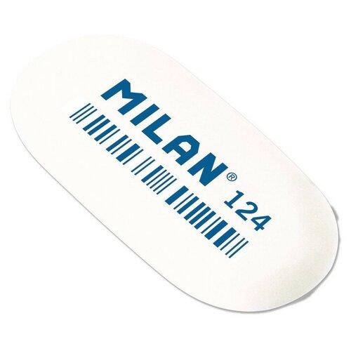 Купить Ластик каучуковый Milan 124 овальный для стирания графита, цв. в ассорт 4 штук, Ластики