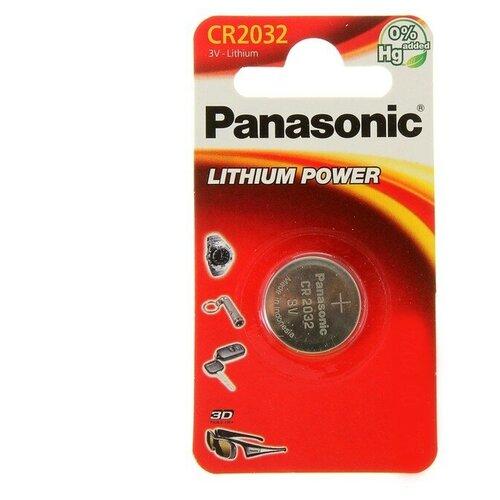 Фото - Батарейка литиевая Panasonic Lithium Power, CR2032-1BL, 3В, блистер, 1 шт 1035291 батарейка smartbuy cr2032 1 шт