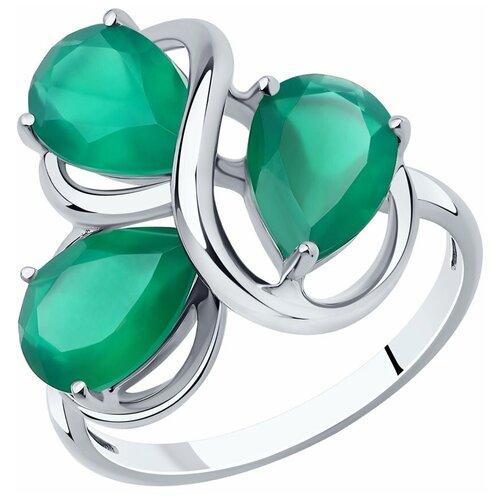 Фото - Diamant Кольцо из серебра с агатами 94-310-00439-1, размер 17 jv кольцо с агатами из серебра tr74r ko gag zag wg размер 17