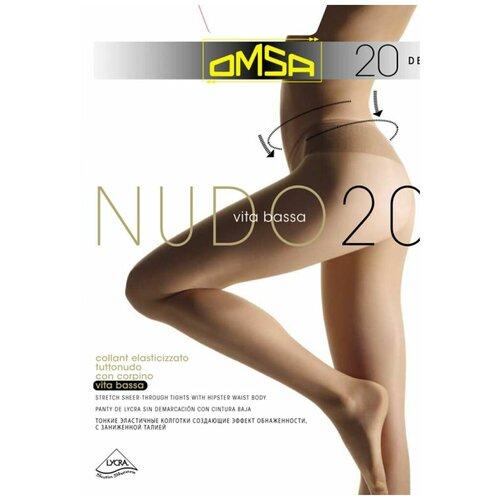 Колготки Omsa Nudo Vita Bassa, 20 den, размер 3-M, beige naturel (бежевый)