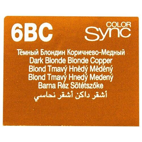 Купить Matrix Color Sync краска для волос без аммиака, 6Bc темный блондин коричнево-медный, 90 мл