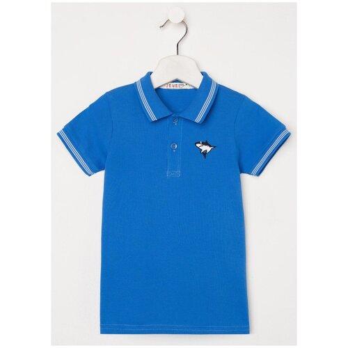 Поло Jewel Style, размер 116, синий поло stone island размер 116 белый синий