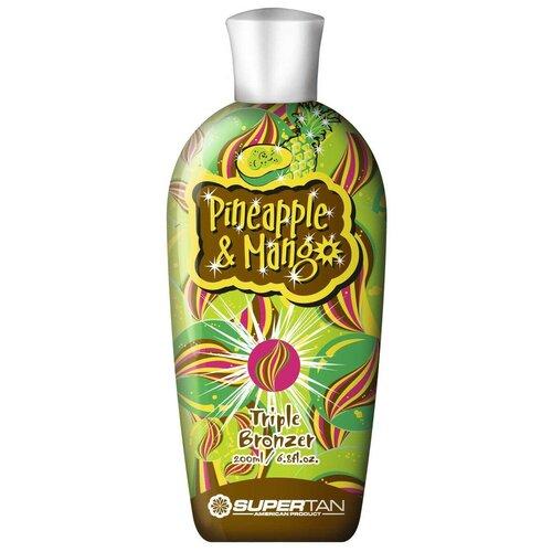 Крем для загара в солярии SuperTan Pineapple and Mango 200 мл крем для загара в солярии supertan lemongrass and orange с антицеллюлитным действием 15 мл