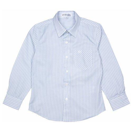 Рубашка Ciao Kids Collection размер 9 лет (134), голубой