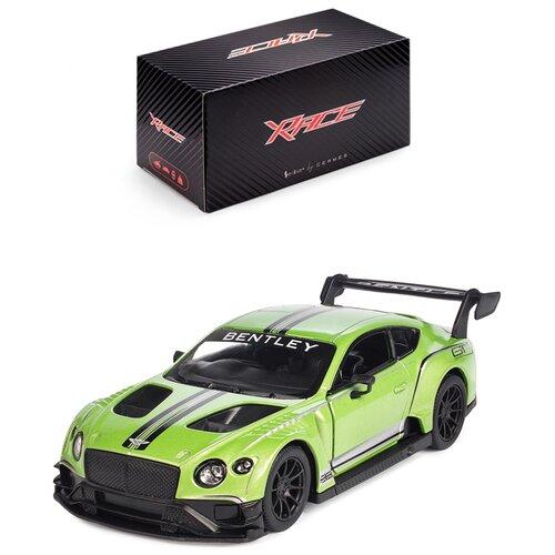 Купить Детская инерционная металлическая машинка Serinity Toysс открывающимися дверями, модель Bentley Continental GT3, салатовый, Машинки и техника