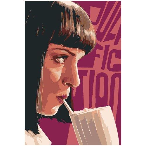 Картина по номерам Криминальное чтиво Мия Уоллес, 70 х 100 см