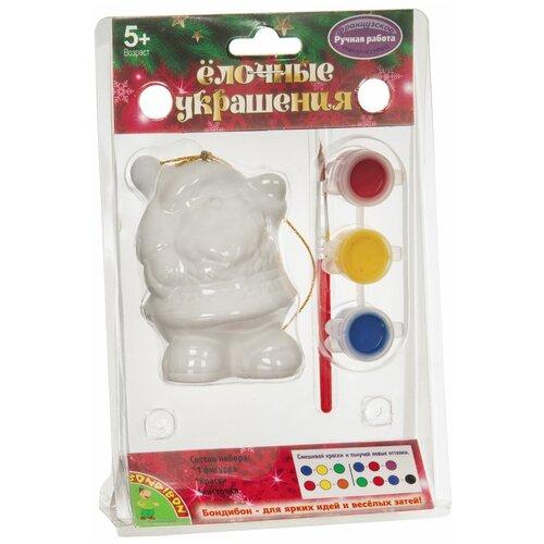 Купить BONDIBON Набор для творчества Елочные украшения Дед Мороз (ВВ1706), Роспись предметов