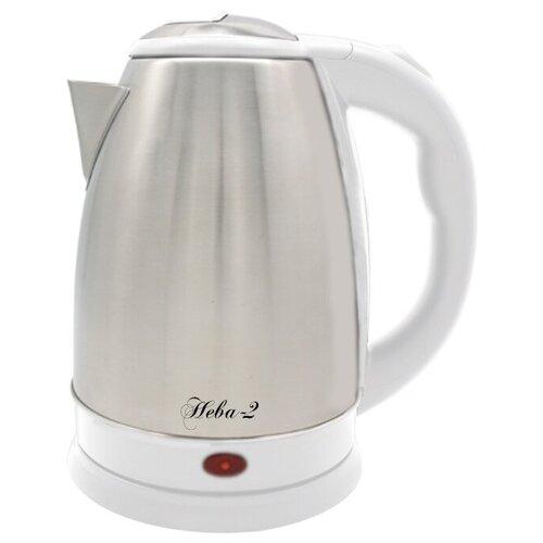 Чайник Великие реки Нева-2, белый чайник электрический великие реки нева 2 1 8л 2000вт белый корпус нержавеющая сталь