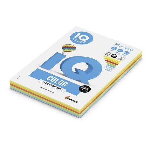 Фото - Бумага цветная IQ А4, 160 г, 5 цветов, интенсив по 20 листов, пачка 100 листов бумага цветная iq color а4 160 г м2 100 л 5 цветов x 20 листов микс интенсив rb02